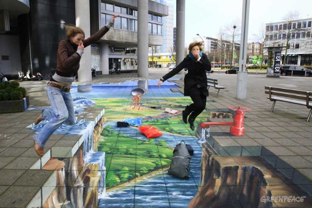 3D Street Painting By PlanetStreet Artists.
