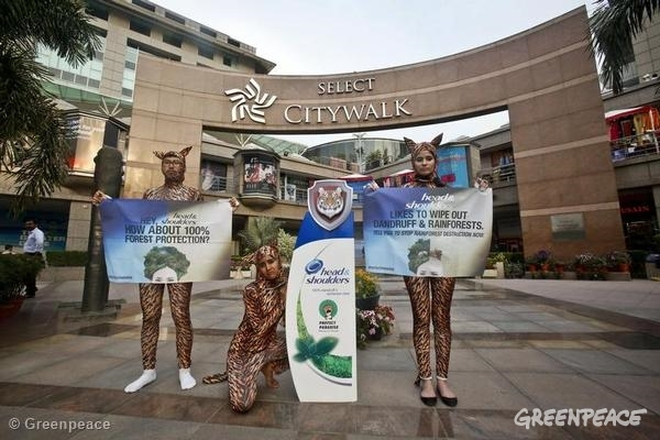 Procter & Gamble Protest in India. 03/26/2014 © Greenpeace