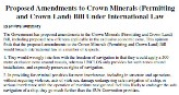 Legal opinion on the proposed Crown Minerals Act amendments