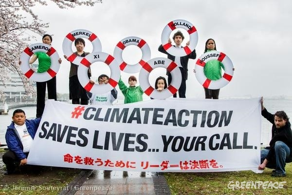Civil Society Groups Call for Climate Action. 03/30/2014 © Jeremie Souteyrat / Greenpeace