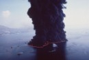 "Cypriot oil tanker ""Haven"" burning in the"