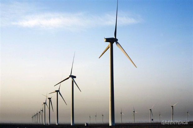 Wind power in Gansu province