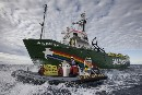 Arctic Sunrise enters the Northern Sea Route