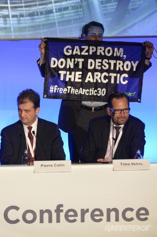 Gazprom Protest At The Brussels European Autumn Gas Conference