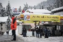 Blocked Shell Petrol Station In Davos, Switzerland