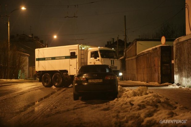 Arctic 30 Transport Away From A Murmansk Detention Center