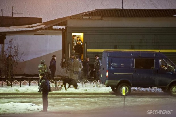 Arctic 30 Transport Away From A Murmansk Detention Center