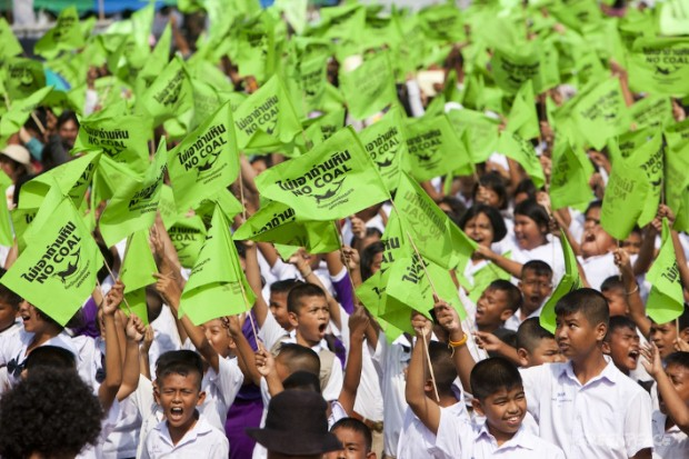 Thousands call for clean energy in Thailand.