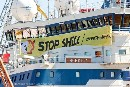 Greenpeace blocks Arctic destruction Activists occupy Shell icebreaker in Finland