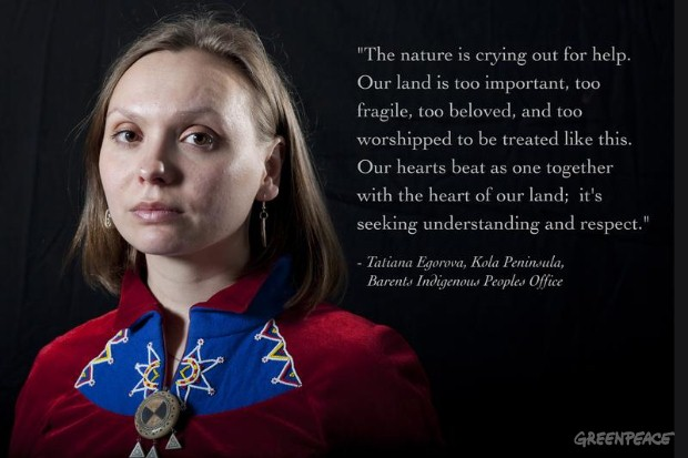 Tatiana Egorova a representative of Sami Parliament in Murmansk region.