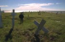 Cemetery collapsing due to permafrost melting