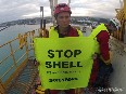 Activists, actor Lucy Lawless arrested following Shell Arctic drillship occupation