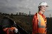 Activist at Cottam Power Station Train Occupation