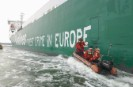 Greenpeace activists paint the slogan Forest
