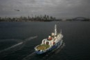 Greenpeace ship Esperanza sails into Sydney Harbour from the Southern Ocean Whale Sanctuary