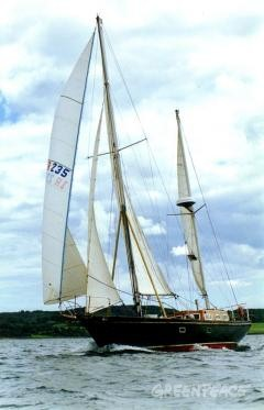 Paul Barrett will sail this 48-foot Endurance staysail ketch, the Tuscair, from Ireland in protest against the shipment of plutonium fuel through the Irish sea by British Nuclear Fuels.