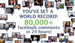 Greenpeace supporters set world record for most Facebook comments