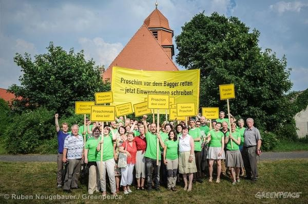 Action against Open Pit Mine in Germany