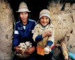 Bolivians with their home grown potatoes