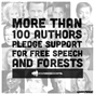 Authors around the world stand up for free speech and forests