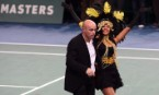 Brazilian samba dancers target BNP Paribas at tennis final for its nuclear investments