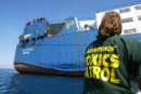 Greenpeace activists block ship containing