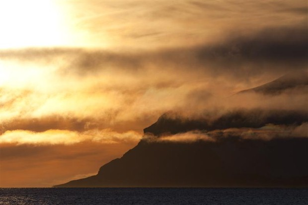 Sunset in Longyearbyen, Svalbard