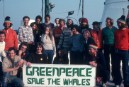 Crew of Rainbow Warrior on their way to Iceland