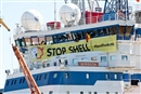 Activists occupying Shell icebreaker ship in Finland