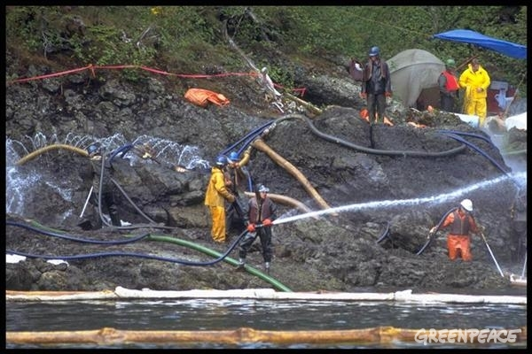 exxon valdez clean up