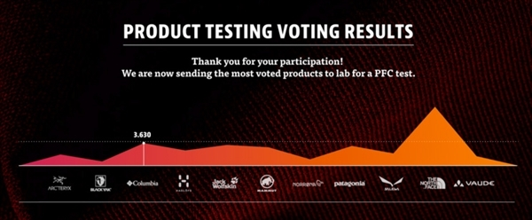 Product testing voting results - graphic
