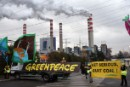 Greenpeace activists and volunteers block