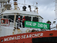 "Climate activists locked on oil supply ship threatened with ""draconian"" Anadarko Amendment"