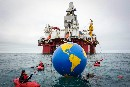 Greenpeace activists stop Statoil rig drilling in the Arctic