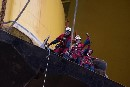 Greenpeace Climbers Leave Arctic Oil Drilling Rig