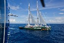 La Rainbow Warrior nell'Oceano Pacifico