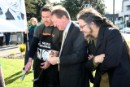 Nick Smith, National Party Environment Spokesperson enjoys a solar powered sausage