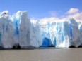 The front of the Grey Glacier where it 'calves' or falls into the glacial lake