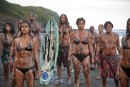 Oily people at Muriwai