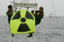 Greenpeace activists Penny Gardner (UK) right