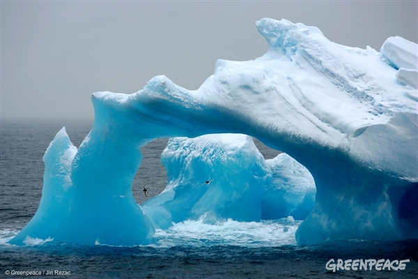 Weathered Iceberg in the Antarctic Ocean, 2008
