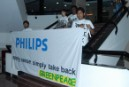Greenpeace activists return e-waste to Philips, ask the company to stop practicing double standard on take-back in India.