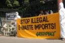 Cops arrest Greenpeace activists, government ignores illegal e-waste import