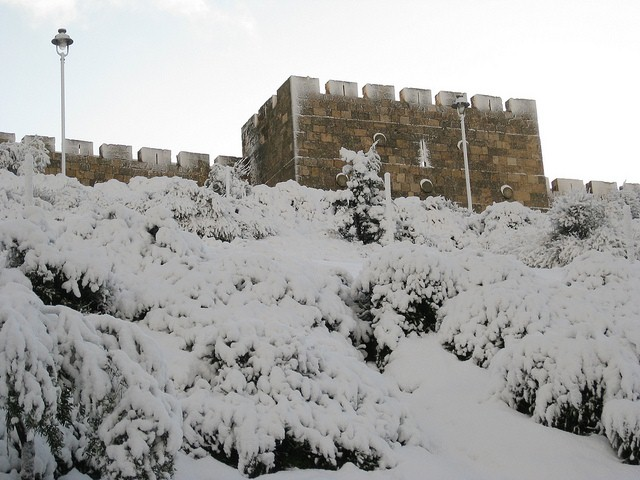 Jerusalem in the snow - ©tlr3automaton