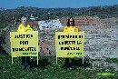 Greenpeace activists protest against abusive expropriations for expansion of open-pit coal mine