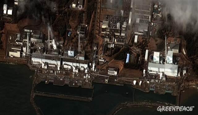 The damaged reactors at Fukushima