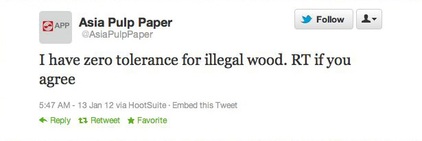 """I have zero tolerance for illegal wood"""