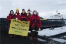 World leaders unfurl a banner reading 'Coal