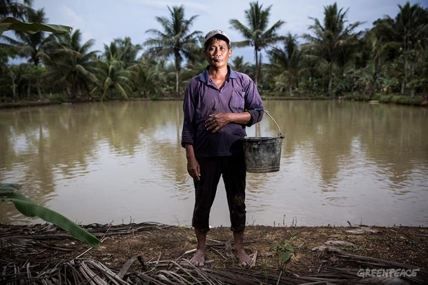 Fish Farmer in Indonesia