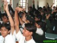 Bhopali students during a talk on the ongoing